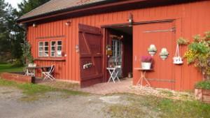 Kontorets entré är Ladans gamla vagnslider